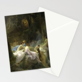 Charles Jalabert - Nymphs Listening to the Songs of Orpheus Stationery Cards