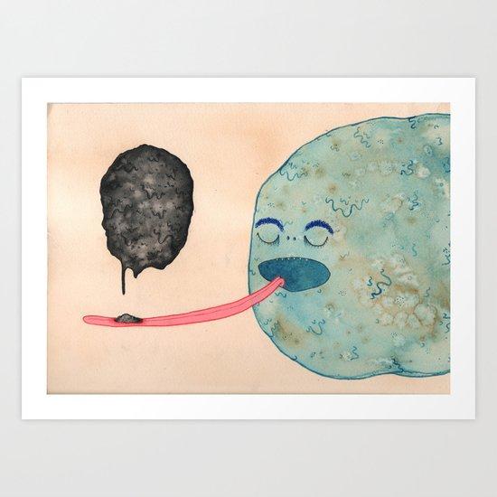 Slow Eater Art Print