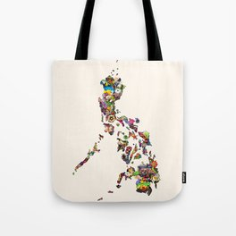7,107 Islands   A Map of the Philippines Tote Bag