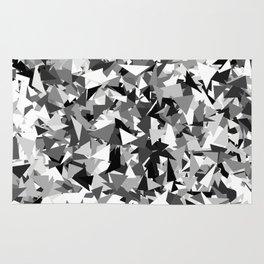 Gray urban camouflage Rug