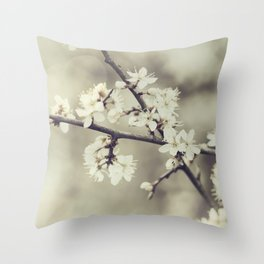 crossed blossoms Throw Pillow