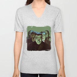 Famous Monsters Gang Unisex V-Neck