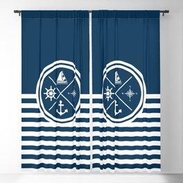 Sailing symbols Blackout Curtain