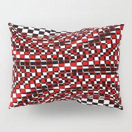 black white red Pillow Sham
