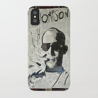 hunter s thompson iPhone & iPod Cases featuring Dr. Hunter S. Thompson by Mike Oncley