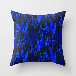 Neo Tropical - Night Garden Throw Pillow