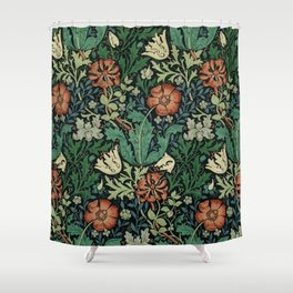 William Morris Compton Floral Art Nouveau Pattern Duschvorhang