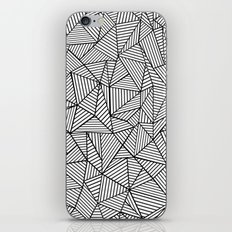 Abstraction Lines #2 Black and White iPhone & iPod Skin