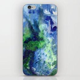 Blue-Green / Azul-Verde iPhone Skin