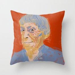 Ursula K. Le Guin portrait + quote Throw Pillow