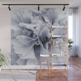 Grey Peony Bloom Wall Mural