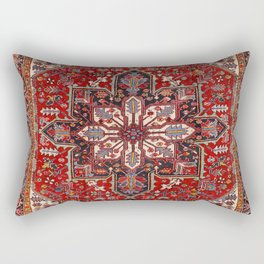 Persia Heriz 19th Century Authentic Colorful Blue Red Cream Vintage Patterns Rectangular Pillow