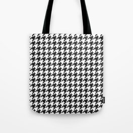 Black and white houndstooth pattern Tote Bag