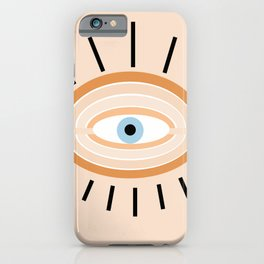 Retro evil eye - earthy iPhone Case