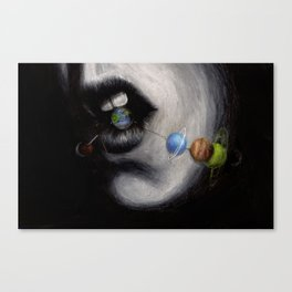 Candy Planets Canvas Print