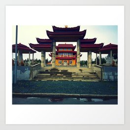 Buddhists Temple Art Print