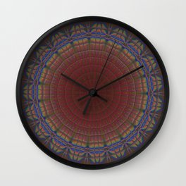 Neon Candescent Tiles Mandala 1 Wall Clock