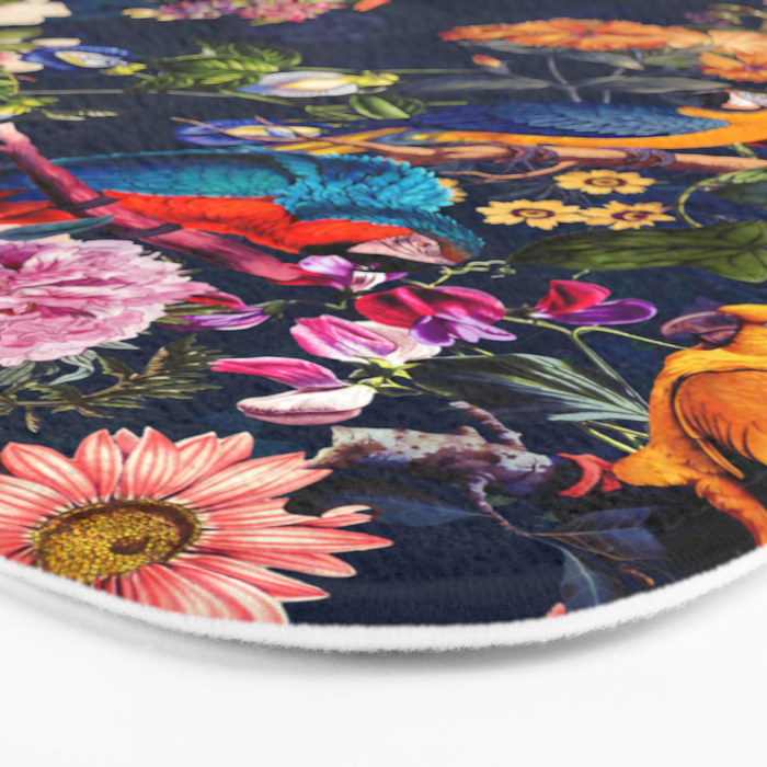FLORAL AND BIRDS XII Bath Mat