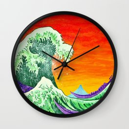 Ulterior Motive of the Great Wave Wall Clock