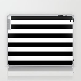 Black White Stripe Minimalist Laptop & iPad Skin