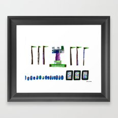 history, people, and vending machines, ii Framed Art Print