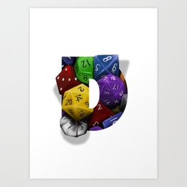 Geek letter D Art Print