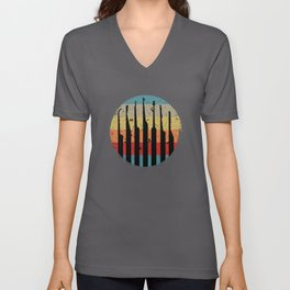 Lock Picking Retro Lock Unisex V-Neck