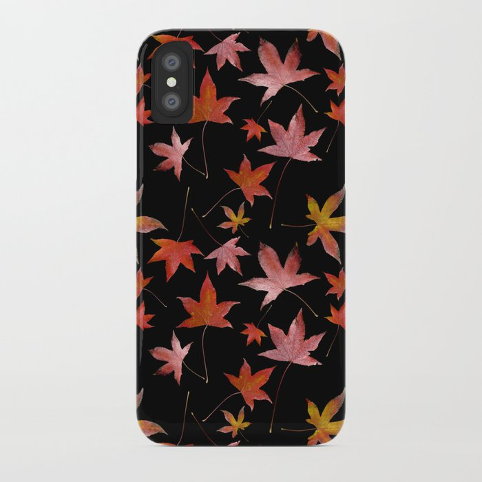 Dead Leaves over Black iPhone Case