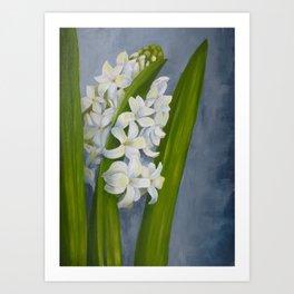 White hyacinth. Painting Art Print