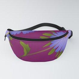 Purple Aster Flower Fanny Pack