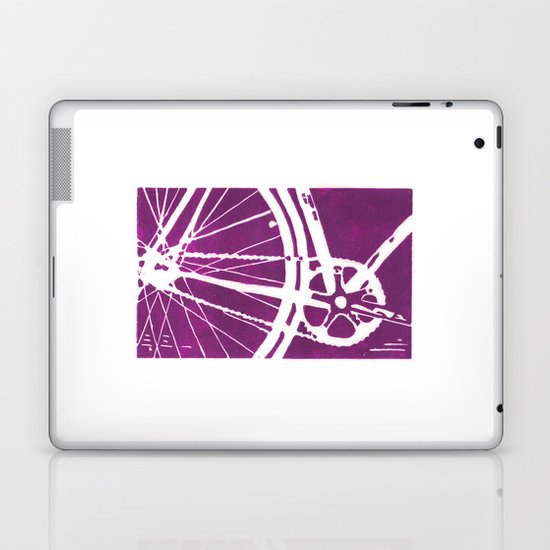 Purple Bike Laptop & iPad Skin