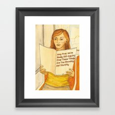 Holy F**k Magazine Framed Art Print