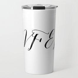 Covfefe in elegant bombshell font Travel Mug