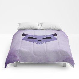 Purple Funny Evil Cat Skull Comforters