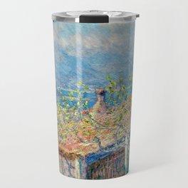 "Claude Monet ""Gardener's House at Antibes"", 1888 Travel Mug"