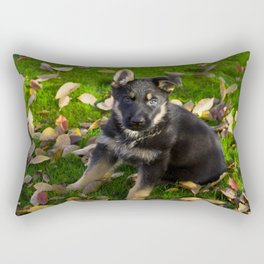 Little German Shepherd puppy Rectangular Pillow