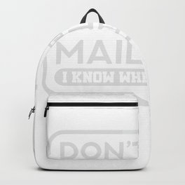 Mail Lady Gift Postal Worker Postman Backpack