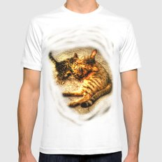 Cats Mens Fitted Tee White MEDIUM