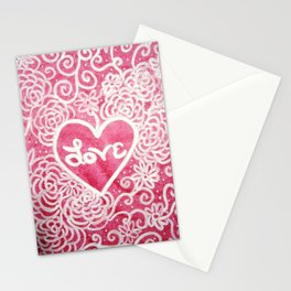 Valentine 3 Stationery Cards