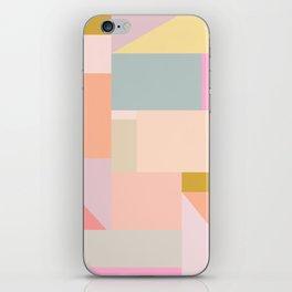 Pastel Geometric Graphic Design iPhone Skin