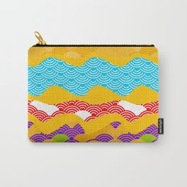 Summer bright pattern  scales simple Nature background with Chinese wave circle pattern Carry-All Pouch