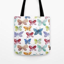Colorful butterflies waterolor Tote Bag