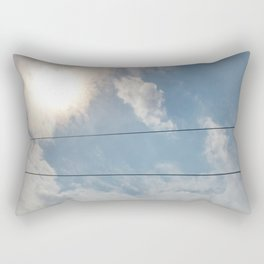 clouds and wire, asrc, no.1 Rectangular Pillow