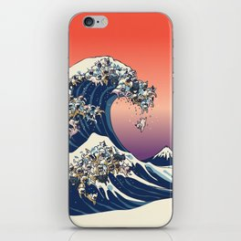 The Great Wave Of  French Bulldog iPhone Skin