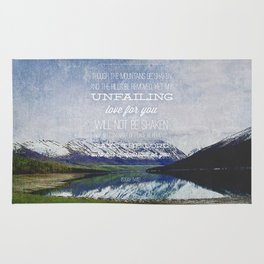 Isaiah 54:10 Rug