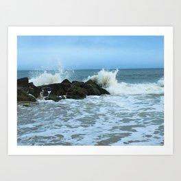 Saltwater Splash Art Print