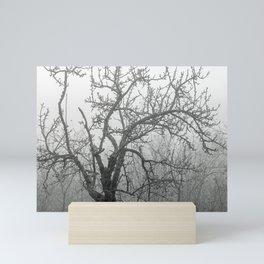 Black and white naked tree Mini Art Print