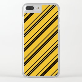 Potterverse Stripes - Hufflepuff Yellow Clear iPhone Case
