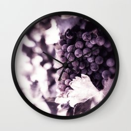 Grapes into Wine Wall Clock