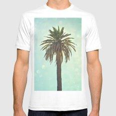 California Palm Mens Fitted Tee White MEDIUM